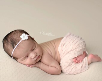 Newborn Girl Photo Outfit, Newborn Photo Prop, Newborn Headband, Pants, Newborn Photo Outfit, Newborn Girl Photography Props, Baby Leggings