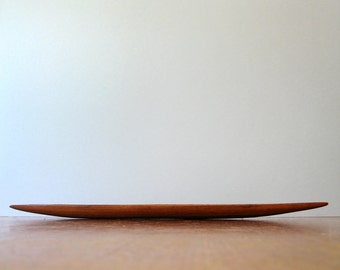 Vintage Danish Modern Teak Long Shallow Dish / Bowl