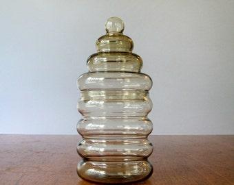 Small Vintage Holmegaard Primula Jar - Jacob Bang