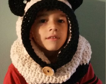 Panda Hooded Cowl