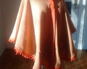 Epic Custom Poncho, Vintage Redux, in vintage wool, made specially for you. You choose the color, optional pockets, hood, and big buttons.