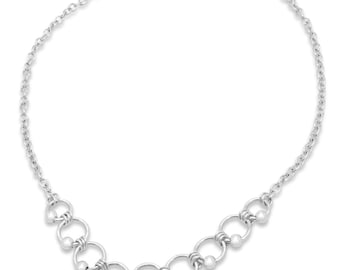 Eastern Promises Sterling Silver Necklace (short)