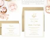 Gold Foil Wedding Invitation Suite