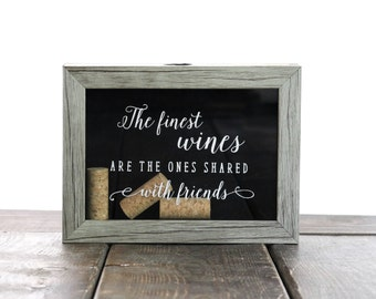 5x7 Wine Cork Holder with Quote