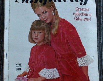 Vintage 1960s 60s Simplicity Designer Fashion  Sewing Pattern Counter Catalog Fashion Book