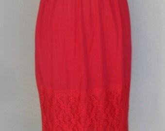 Vintage Half Slip Vintage Red Lace by Blue Swan Medium