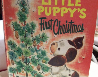 Poky Little Puppy's First Christmas Giant Golden Book Second Printing 1974 Nice Christmas Story Make a New Tradition