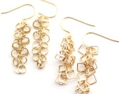 Medici -- gold dangle earrings