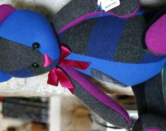 Handmade in loving memory... OOAK custom daddy memory bear made from something special. Custom order.