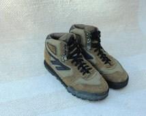Vintage Hi-Tec Lady Lite II Brown & Black Hiking Ankle Boots, Womens 8