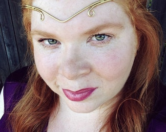 Renaissance Circlet | Forehead Band | Headpieces For Prom | Forehead Jewelry |Forehead Headband | Gold Headpiece | Bridal Circlet