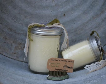 Apple Jack and Peel / All Natural Soy Wax Candle / Large Candle / Wedding Favors / Gifts