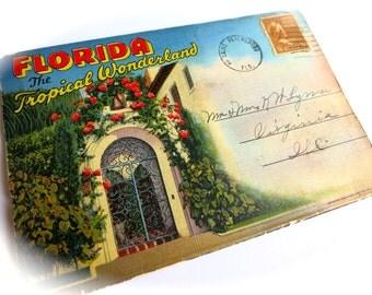 vintage florida folder accordion travel - Accordion Folder