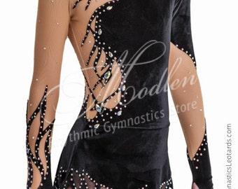 Leotard #152: Rhythmic Gymnastics Leotard, Ice Figure Skating Dress, Acrobatic Gymnastics Costume, Jumpsuit or Dance Dress