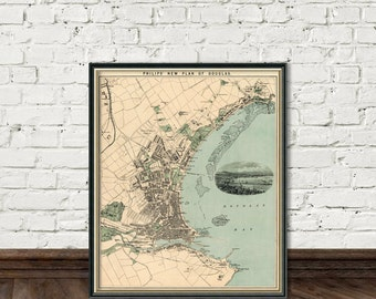 Douglas map - Old map of Douglas - archival fine reproduction