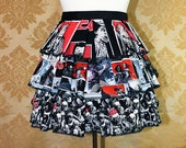 "Ruffle Bustle Overskirt - 3 Layer, Sz. S - Walking Dead Zombie Theme - Best Fits Up to 42"" Waist or Upper Hip -- Ready to Ship"
