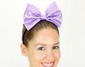 Daisy Duck Headband Light Purple Minnie Mouse Bow Daisy Duck bow Daisy Duck Halloween Costume Ears Huge Hair Bow Disney Hair Bow Daisy Bow
