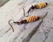Taste the honey earrings, mindfulness, present thinking, Eco, Indian, coil, twisted, wire, natural materials, unique gift