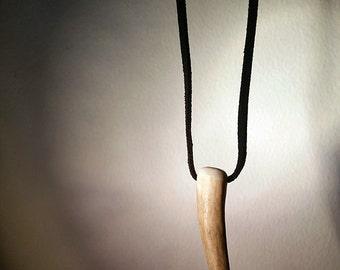 Rustic Deer Antler Pendant Necklace