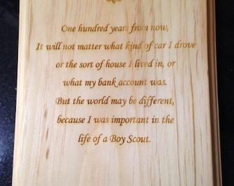 Scout Leader Plaque #1