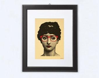 Lina Cavalieri print-Lina Cavalieri gold print-woman portrait print-Funny Lina Cavalieri print-Lina cavalieri nerdy- by NATURA PICTA-NPGP08