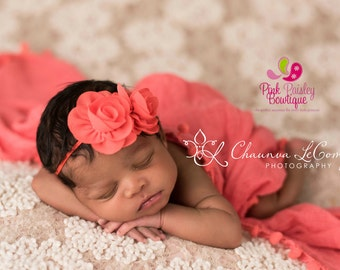 Baby Headbands - You pick 1 Double Chiffon Headband - Infant Baby Headband - Baby Girl Headbands - Baby Hair Accessories - Baby Hair Bows