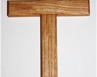 Handmade In America - Wooden Ash Wall Cross