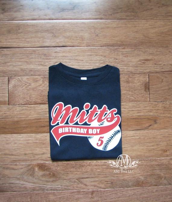 Personalized baseball birthday shirt, boys baseball shirt