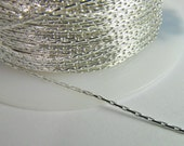 5 Feet Silver-Plated 1mm Beading Chain Ch264
