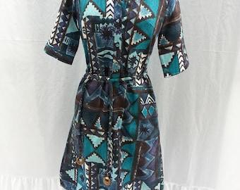 Shirt Dress 1960s Dress Lady Bayard Womans Dress, Belted Dress