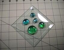 """Mosaic Beveled Glass Tile 4"""" Diamond Suncatcher Tile Kit"""