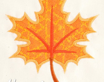 Leaf Applique Embroidery Design, leaf applique, autumn applique, machine embroidery, applique, leaf design, Fall embroidery, leaves, leaf