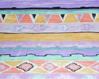 """Leather 8""""x10"""" Lavender PURPLE Southwestern Navajo Printed Cowhide 2 oz / .8 mm PeggySueAlso"""