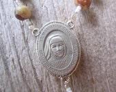 Saint Marianne rosary, Kalaupapa saint, Molokai rosary, coral and shiva shell rosary