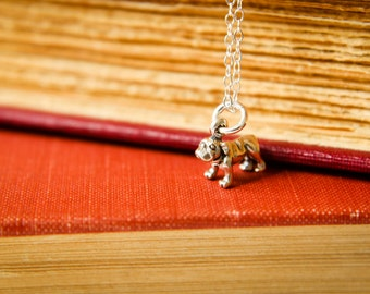 Itty Bitty Bulldog Necklace in Sterling Silver