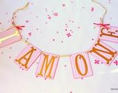 First Birthday Banner, First Birthday Photo Prop, I Am One Banner, Pink And Gold Birthday, I Am One Garland, I Am Two, Three, Four,