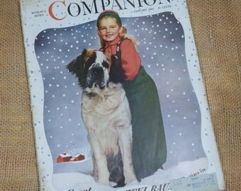 Woman's Home COMPANION Vintage Magazine January 1945 Vintage Advertising, Womens Fashions, Homemaking