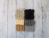 Crochet Boot Cuffs - Toddler Boot Toppers - Neutral - Gray Boot Cuff - Black Boot Cuff - Tan Boot Cuff - Kids Boot Toppers