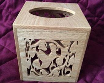 Tissue Box Holder - Hummingbird Design - Hummingbirds