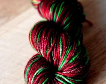 "Worsted Yarn - 100% SW Merino - Christmas - ""Christmas Caroled"""