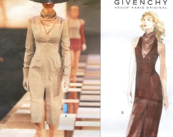 Alexander McQueen for Givenchy cowl-neck dress pattern -- Vogue Paris Original 2248