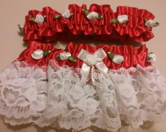 Red and White Garter