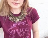 Boho Shirt, MEDIUM, Bohemian Definition, Graphic Tees for women, Boho Hippie, Bohemian Shirt