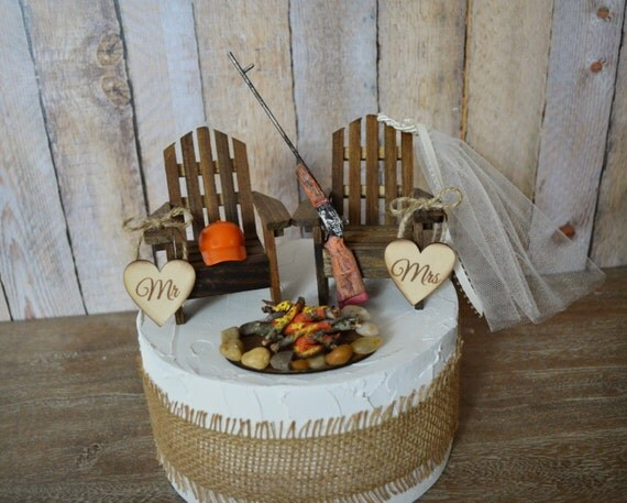 wedding cake shot gun wedding cake topper groom camping 24507