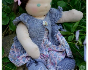 Charlotte, Handmade 16inch Doll, made in Australia, all natural