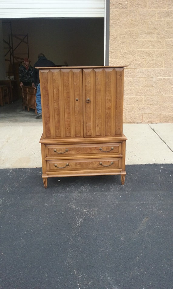 Vintage armoire dresser chest bureau by handpaintedbycookie - Armoire bureau but ...