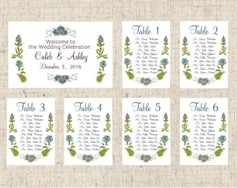 Seating Charts, Table Seating Assignment Cards, Seating Information, Guest Seating Charts, Flower Place Card Alternative, Placecard option