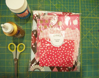 SALE  Scrap Bag fabric woven scraps for collage, quilting, play