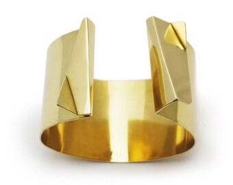 Origami Bracelet, Architectural Cuff Bracelet, Adjustable Bangle, Designer Jewelry For Women, BB006