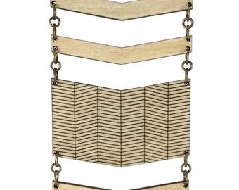 DISHY | tiered chevron necklace